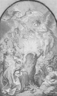 the miracle of the eucharist appearing from a tree by franz erasmus asam