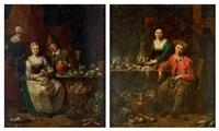deux scènes de cuisine formant pendant (pair) by jan baptist lambrechts