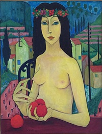 nu aux pommes by pierre daboval