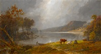 greenwood lake, n.j. by jasper francis cropsey