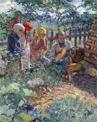 children playing the balalaika by nikolai petrovich bogdanov-bel'sky