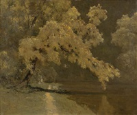 wattle on the yarra by theodore penleigh boyd