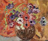 anemonen in einer vase by louis valtat
