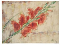 rote gladiole by christian rohlfs