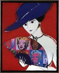 dama con sombrero (marilyn) by manolo valdés