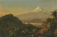 south american landscape (study for chimborazo) by frederic edwin church