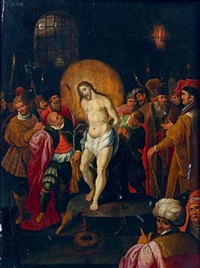 le christ aux outrages (in 2 parts) by frans francken the younger
