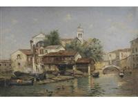 a venetian scene by antonio maría de reyna manescau