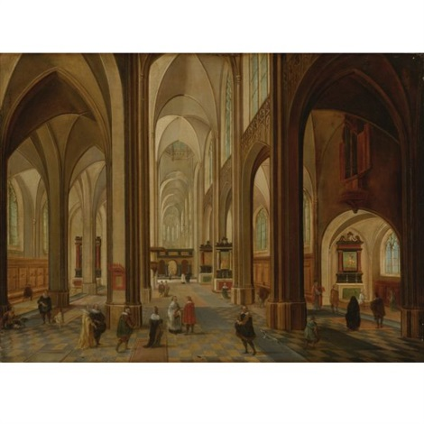 interior of a church by peeter neeffs the elder