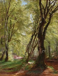 spring day in the woods by carl frederik peder aagaard