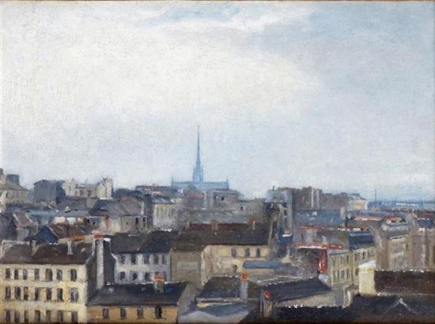 vue de la ville de caen by stanislas lépine