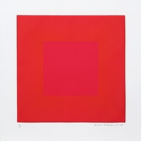 summer suite (red with gold 4) by richard anuszkiewicz