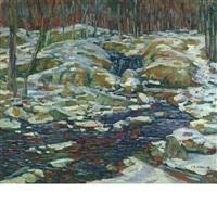 snowy woodland by charles salis kaelin