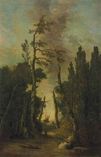 l'escarpolette by hubert robert