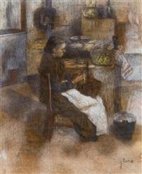 femme épluchant des pommes de terre by james ensor