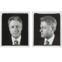 untitled (president clinton) diptych by chuck close