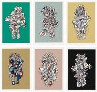 présences fugaces (set of 6) by jean dubuffet