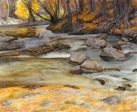 taos mountain stream by ernest martin hennings