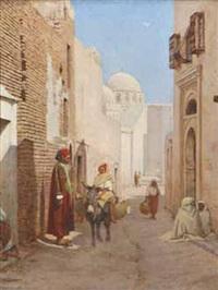 ruelle près d'une mosquée by jules daubeil