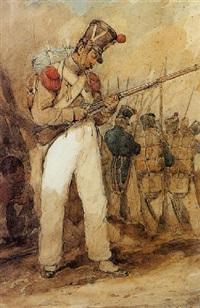 officier de l'infanterie du premier empire by theodore leblanc