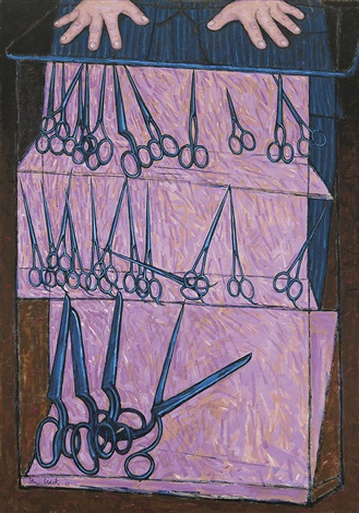 the scissors shop by john brack