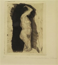 stehendr weiblicher akt (standing female nude) by käthe kollwitz