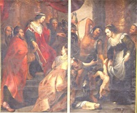 le jugement de salomon (2 works) by sir peter paul rubens