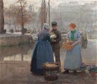 autumn morning in rotterdam by hans herrmann