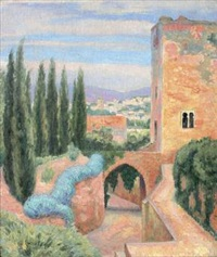 alhambra, tour de la captive by paul-emile colin