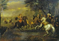 scène de bataille by sauveur le conte