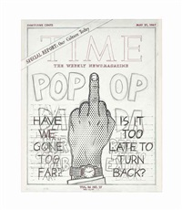 study for time cover by jim shaw