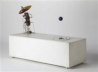 robot with flying object number three by enrique castro-cid