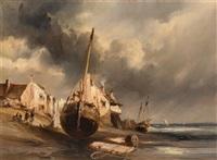 harbor scene by louis gabriel eugène isabey