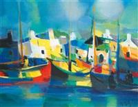le port breton aux chalutiers by marcel mouly
