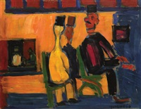 figures on the balcony by pinchas litvinovsky