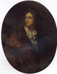 portrait d'homme à la chemise de dentelle by joseph vivien