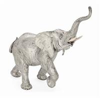 untitled (charging elephant) by neresheimer