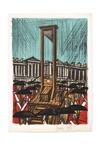 la guillotine (from la révolution française) by bernard buffet