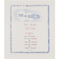 the blue guitar, pl.1 by david hockney