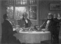gentlemen enjoying a meal by george fox