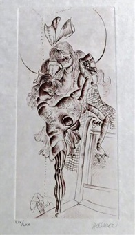 sans titre (set of 5) by hans bellmer