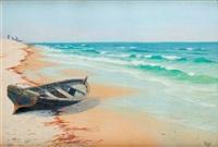 łódź przy brzegu by soter jaxa-malachowski