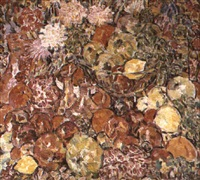 coupe de fruits aux oeillets by rady rautovich yakubov