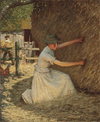 tucking the rick by henry herbert la thangue