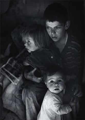trailer camp children richmond california by ansel adams