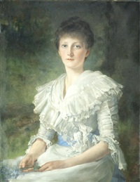 portrait of mrs mary milnes gaskell by william clarke wontner