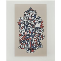 le vizir (from fables) by jean dubuffet