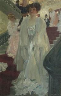 la sortie de l'opéra by charles hoffbauer
