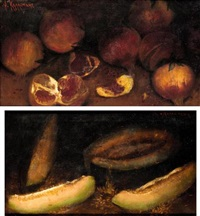 still life (+ another similar; pair) by alexandre kaloudis
