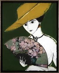 dama con sombrero (yellow) by manolo valdés